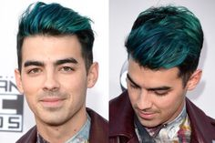 Merman Hair. Yup, It's a Real Thing: Joe Jonas' Blue Merman Hair