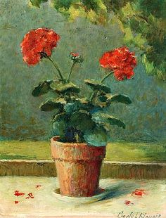 still life quick heart — Carle John Blenner Geranium 1949 Flower Vases, Flower Art, Red Geraniums, Art Thou, Ad Art, Diy Canvas Art, Fruit Art, Art Pictures, Bunt