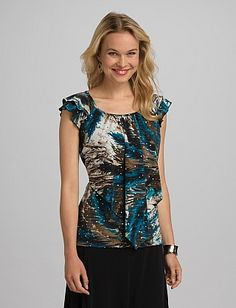 roz & ALI™ Abstract Tiered Top