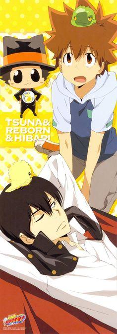 KHR Tsuna Hibari Reborn Hibird Leon