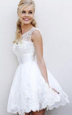 LOVE this for Summer Wedding! Short Wedding Dress