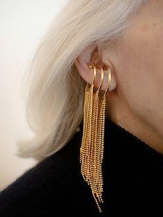 Faux Piercing, Punk, Drop Earrings, Instagram, Jewelry, Style, Fashion, Brass, Locs