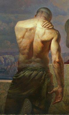 Artist: Petar Meseldzija contemporary figurative male human body man posterior back painting Powerful! Back Painting, Figure Painting, Figure Drawing, Painting & Drawing, Art Beauté, Non Plus Ultra, Male Figure, Gay Art, Life Drawing