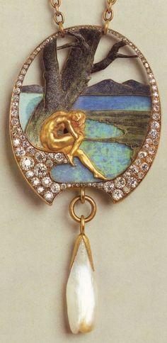 Jewelry Diamond : Lalique, Art Nouveau Artists - Buy Me Diamond Bijoux Art Nouveau, Art Nouveau Jewelry, Jewelry Art, Vintage Jewelry, Fine Jewelry, Jewelry Design, Gold Jewelry, Turquoise Jewelry, Antique Jewellery