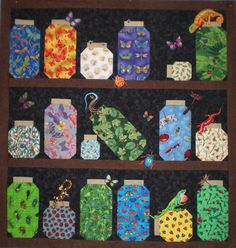 Theme and Pictorial Quilts Photo Gallery | Jars, Other and Quilt : bugs in a jar quilt pattern - Adamdwight.com
