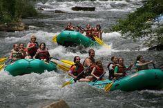Riding the Rapids .....  Nantahala River, NC