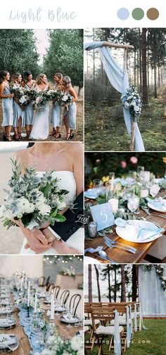 light blue and greenery rustic chic wedding colors themes rustic chic The Best 10 Blue Wedding Color Ideas To Inspire in 2 Chic Wedding, Summer Wedding, Rustic Wedding, Wedding Ceremony, Dream Wedding, Wedding Blue, Coastal Wedding Ideas, June Wedding Colors, Tiffany Wedding