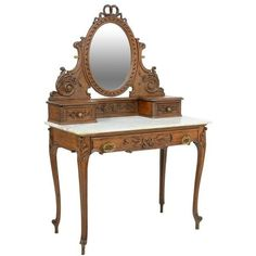 A FRENCH VICTORIAN EMPIRE STYLE DRESSING TABLE. 8/29, 7 ❤ liked on Polyvore featuring home, furniture and tables