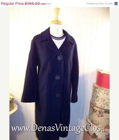 40 OFF THANKSGIVING SALE 60s Vintage Navy by DenasVintageCloset, $99.00
