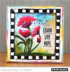 Mixed Media featuring Penny Black brushstroke stamps