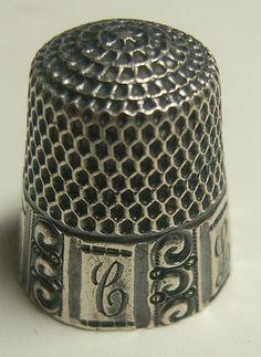 Antique Goldsmith Stern Paneled Sterling 7 Thimble | eBay