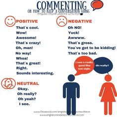 Phrases - Commenting or How to keep a conversation going