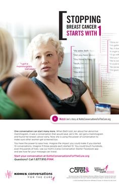 Susan G. Komen - Kohl's Conversations for the Cure print ad;Core Creative, Inc.