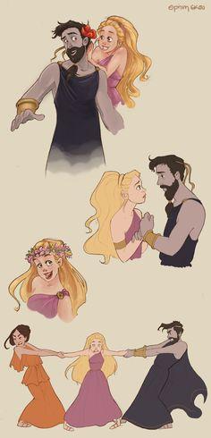 Hades and Persephone doodles by Ninidu.deviantart.com on @deviantART