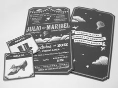 J&M | Wedding Invitations by Gámomo Creative Lab , via Behance