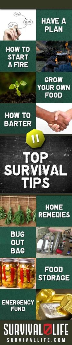 11 Top Survival Tips - Survival Life | Preppers | Survival Skills and Prepping Ideas