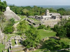 Mayan Central Plaza, Palenque, Mexico (226 B.C.)