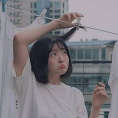 Aesthetic Photo, Aesthetic Pictures, Vsco Photography, Portrait Photography, Lens For Portraits, Aesthetic People, Girl Short Hair, Cute Asian Girls, Girl Poses