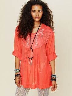 Free People Living Easy Tunic, $128.00  ....I love free people but why you gotta be so exspensive?!