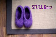womens' Wool Felted Stull slippers ... Wild Violet .. made by StullKnits