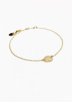 & Other Stories Fossil Chain Bracelet