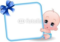 #Cute #Cartoon #Baby #Boy #Announcement #Card-#Vector © #Bluedarkat - on #Fotolia!