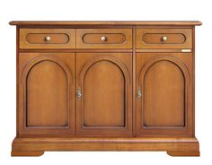 Wooden sideboard buffet 3 doors - ItalianStyle by ArteFerretto. Completely made in wood by skilled artisans. www.italian-style.co.uk/wp/product/3076-bz-wooden-sideboard-buffet-3-doors/
