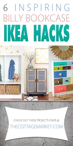 IKEA Hacks /// 6 Inspiring Billy Bookcases - The Cottage Market