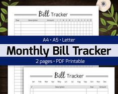 Monthly Budget Planner Printable, Finance Money Tracker, Spending Expense Tracker, Personal Home Organizer, Home Management PDF Planner - Number One Finance Portal 2019 Monthly Budget Planner, Printable Planner, Printables, Monthly Expenses, Budget Spreadsheet, Planning Budget, Financial Planning, Financial Budget, Expense Tracker
