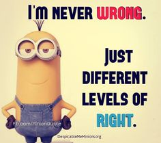 funny minions quotes arguing with a woman Funny Minion Memes, Minions Quotes, Funny Texts, Funny Jokes, Hilarious, Minion Humor, Wtf Funny, Karma, Minions Love