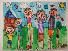 1st grade family portrait