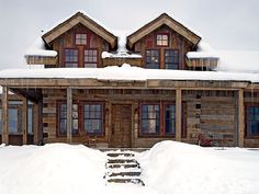 Love this log home in Snowmass, Colorado by Reno Smith Architects, LLC