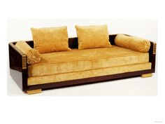 French Art Deco: Day Bed, Designed by Emile-Jacques Ruhlmann (1879-1933). Rosewood and Gilt Bronze.