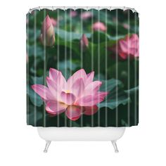 Catherine McDonald Lotus Field Shower Curtain | DENY Designs Home Accessories