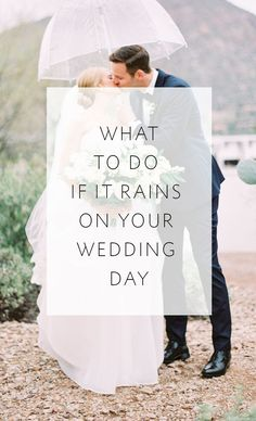Get amazing photos and make incredible memories in spite of the rain on your wedding day!