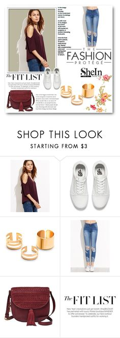 """""""Shein 19"""" by zerina913 ❤ liked on Polyvore featuring Vans, FOSSIL and shein"""