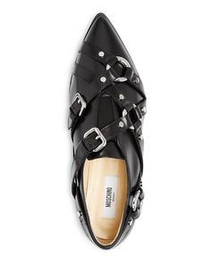 Moschino Buckle Strap Loafers