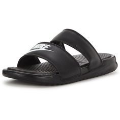 more photos ee3cc a0b04 Nike Benassi Duo Ultra Slide ( 42) ❤ liked on Polyvore featuring shoes,  sandals, grip shoes, traction shoes, double strap sandals, nike footwear  and nike