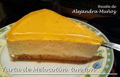 Tarta de Melocotón (desde Ataque), receta de Alejandra Muñoz, dieta Dukan