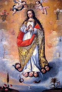 Anonymous, Immaculate Conception, 17th century, oil on canvas, Colección BBVA, Lima.