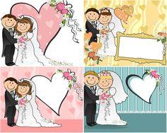 Wedding Illustrations   Cartoon wedding vector