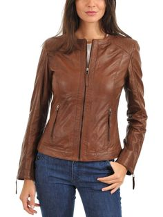 Women's Leather Jacket Handmade Motorcycle Solid Lambskin Leather