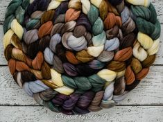Hand dyed Organic Polwarth wool/ Cultivated Silk combed top. Good for spinning, felting, blending, weaving & petting upon occasion. Colors: Black, Gray, Cream, Green, Brown, Tan, Caramel 4 oz / 113 grams  DETAILS Micron count: 22-25 (Polwarth) How soft is it? Next to skin soft