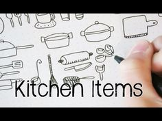 Doodle with Me : Kitchen Items - YouTube