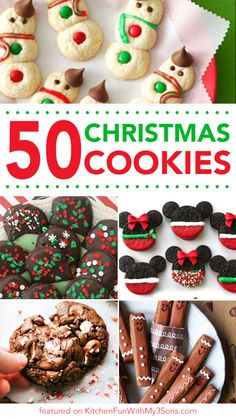 of the Best Christmas Cookie Recipes 60 of the BEST Christmas Cookie Recipes - we spent hours finding the highest rated Christmas Cookies so you will easily have all of them in one place! - of the BEST Christmas Cookie Recipes Köstliche Desserts, Holiday Desserts, Holiday Baking, Holiday Recipes, Dinner Recipes, Christmas Recipes, Meal Recipes, Holiday Treats, Holiday Foods