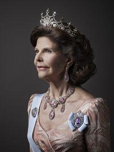 Queen Silvia of Sweden. New Portrait December 2014.