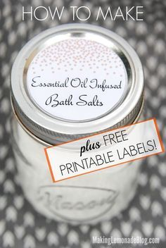 DIY Mother's Day Gift Idea (with Free Printable Labels!)-- this is such a sweet gift that can be personalized with favorite scents and three different styles of free printable labels!
