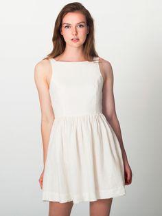 linen dress by american apparel