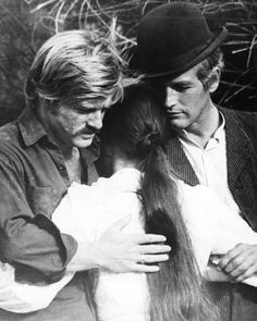 Robert Redford, Katharine Ross, and Paul Newman in Butch Cassidy and the Sundance Kid (1969)