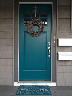 Image result for benjamin moore tucson teal door